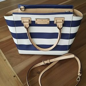 authentic Kate Spade shore st blue/white striped